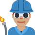 👨🏽‍🏭 man factory worker: medium skin tone Emoji on Twitter Platform