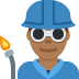 👨🏾‍🏭 man factory worker: medium-dark skin tone Emoji on Twitter Platform