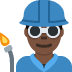 👨🏿‍🏭 man factory worker: dark skin tone Emoji on Twitter Platform