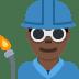 👨🏿🏭 Dark Skin Tone Male Factory Worker Emoji on Twitter Platform
