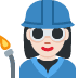 👩🏻‍🏭 woman factory worker: light skin tone Emoji on Twitter Platform