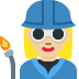 👩🏼🏭 woman factory worker: medium-light skin tone Emoji on Twitter Platform