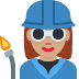 👩🏽‍🏭 woman factory worker: medium skin tone Emoji on Twitter Platform