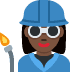 👩🏿‍🏭 woman factory worker: dark skin tone Emoji on Twitter Platform