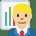👨🏼💼 man office worker: medium-light skin tone Emoji on Twitter Platform