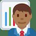 👨🏾💼 Medium Dark Skin Tone Male Office Worker Emoji on Twitter Platform