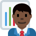👨🏿‍💼 man office worker: dark skin tone Emoji on Twitter Platform
