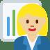 👩🏼💼 woman office worker: medium-light skin tone Emoji on Twitter Platform