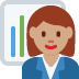 👩🏽‍💼 woman office worker: medium skin tone Emoji on Twitter Platform