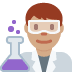 👨🏽‍🔬 man scientist: medium skin tone Emoji on Twitter Platform