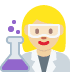 👩🏼‍🔬 woman scientist: medium-light skin tone Emoji on Twitter Platform