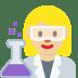 👩🏼🔬 woman scientist: medium-light skin tone Emoji on Twitter Platform