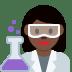 👩🏿🔬 woman scientist: dark skin tone Emoji on Twitter Platform
