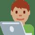 👨🏽💻 man technologist: medium skin tone Emoji on Twitter Platform