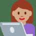 👩🏽💻 woman technologist: medium skin tone Emoji on Twitter Platform