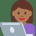👩🏾💻 woman technologist: medium-dark skin tone Emoji on Twitter Platform
