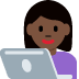 👩🏿‍💻 woman technologist: dark skin tone Emoji on Twitter Platform
