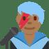 👨🏾🎤 man singer: medium-dark skin tone Emoji on Twitter Platform