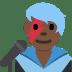 👨🏿🎤 man singer: dark skin tone Emoji on Twitter Platform
