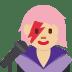 👩🏼🎤 woman singer: medium-light skin tone Emoji on Twitter Platform