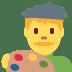 👨🎨 man artist Emoji on Twitter Platform