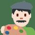 👨🏻🎨 man artist: light skin tone Emoji on Twitter Platform