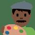 👨🏿🎨 man artist: dark skin tone Emoji on Twitter Platform