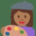 👩🏾🎨 woman artist: medium-dark skin tone Emoji on Twitter Platform