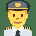 👨✈️ man pilot Emoji on Twitter Platform