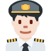 👨🏻‍✈️ man pilot: light skin tone Emoji on Twitter Platform