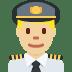 👨🏼✈️ man pilot: medium-light skin tone Emoji on Twitter Platform