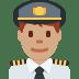👨🏽✈️ man pilot: medium skin tone Emoji on Twitter Platform