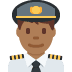 👨🏾‍✈️ man pilot: medium-dark skin tone Emoji on Twitter Platform