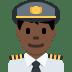 👨🏿✈️ man pilot: dark skin tone Emoji on Twitter Platform