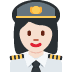 👩🏻‍✈️ woman pilot: light skin tone Emoji on Twitter Platform