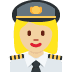 👩🏼‍✈️ woman pilot: medium-light skin tone Emoji on Twitter Platform
