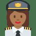 👩🏾✈️ woman pilot: medium-dark skin tone Emoji on Twitter Platform