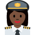 👩🏿‍✈️ woman pilot: dark skin tone Emoji on Twitter Platform