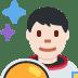 👨🏻🚀 man astronaut: light skin tone Emoji on Twitter Platform
