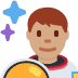 👨🏽🚀 man astronaut: medium skin tone Emoji on Twitter Platform