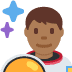 👨🏾‍🚀 man astronaut: medium-dark skin tone Emoji on Twitter Platform