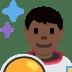 👨🏿🚀 man astronaut: dark skin tone Emoji on Twitter Platform