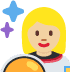 👩🏼‍🚀 Medium Light Skin Tone Female Astronaut Emoji on Twitter Platform