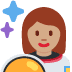 👩🏽‍🚀 woman astronaut: medium skin tone Emoji on Twitter Platform
