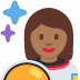 👩🏾‍🚀 woman astronaut: medium-dark skin tone Emoji on Twitter Platform