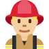 👨🏼‍🚒 man firefighter: medium-light skin tone Emoji on Twitter Platform