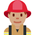 👨🏽‍🚒 man firefighter: medium skin tone Emoji on Twitter Platform