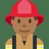 👨🏾🚒 man firefighter: medium-dark skin tone Emoji on Twitter Platform