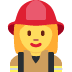 👩🚒 woman firefighter Emoji on Twitter Platform
