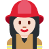 👩🏻‍🚒 woman firefighter: light skin tone Emoji on Twitter Platform